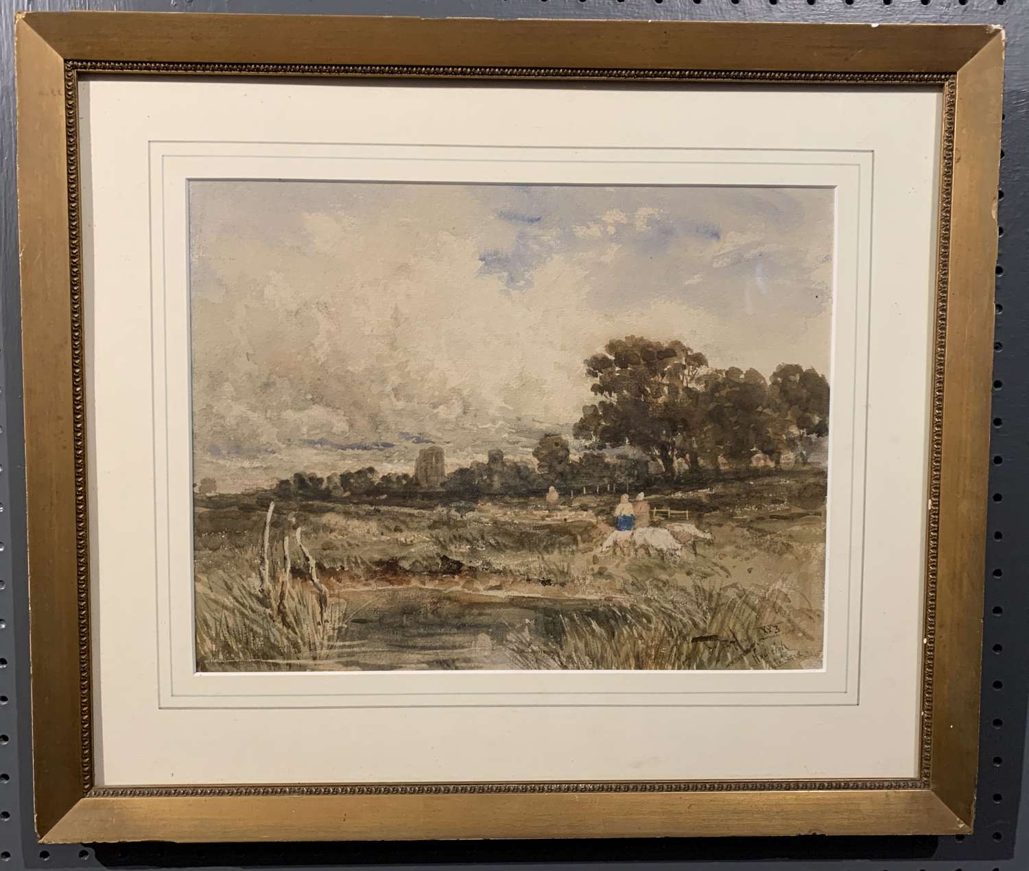 Thomas Bush Hardy, Watercolour of Hadleigh Castle, Essex