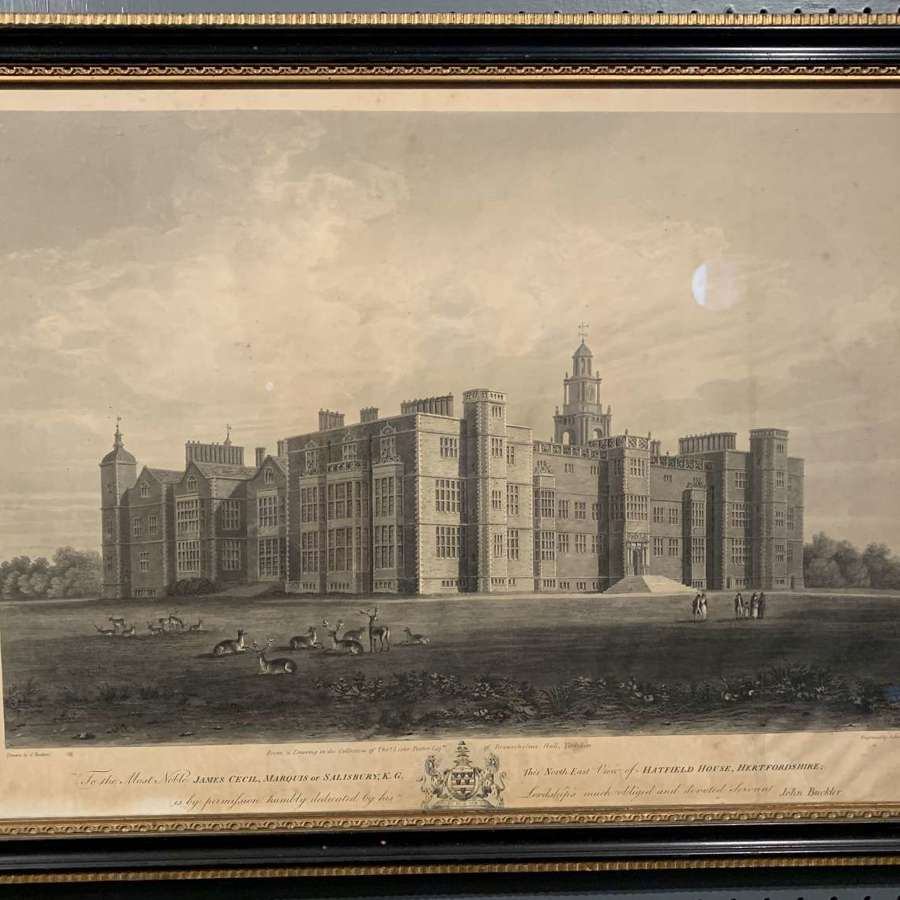 Engraving of Hatfield House, Hertfordshire, 1815