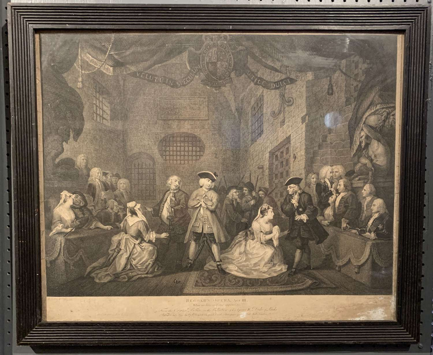 After William Hogarth, The Beggar's Opera, Act III, Engraving