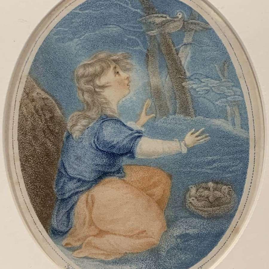 Pair of Regency Stipple Engravings after J.H. Benwell