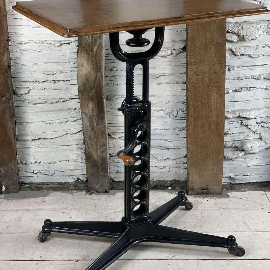 Victorian Cast Iron Patent Adjustable Work Table