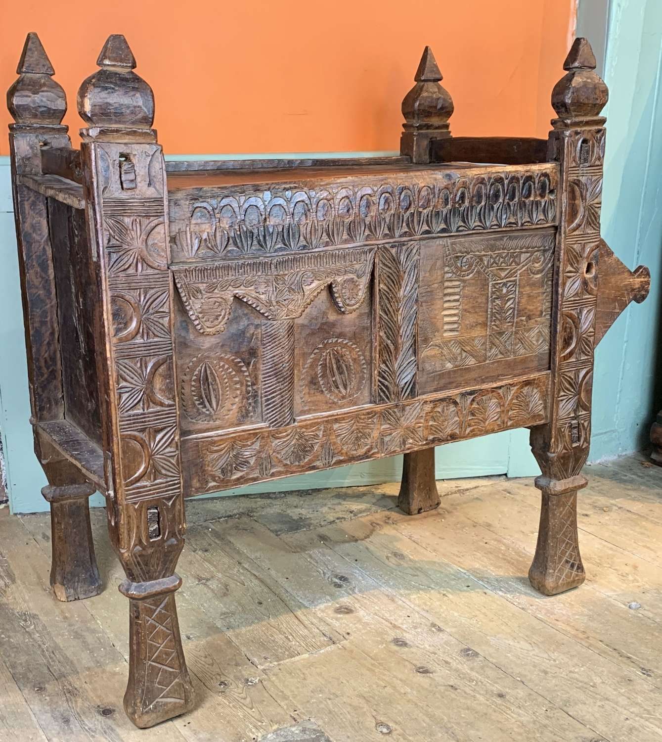 19th Century Cedar Dowry Chest from the Swat Valley, Hindu-Kush