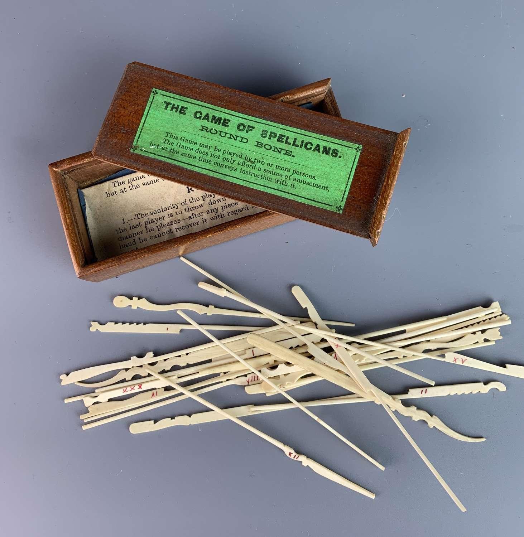 Victorian Bone 'Game of Spellicans'