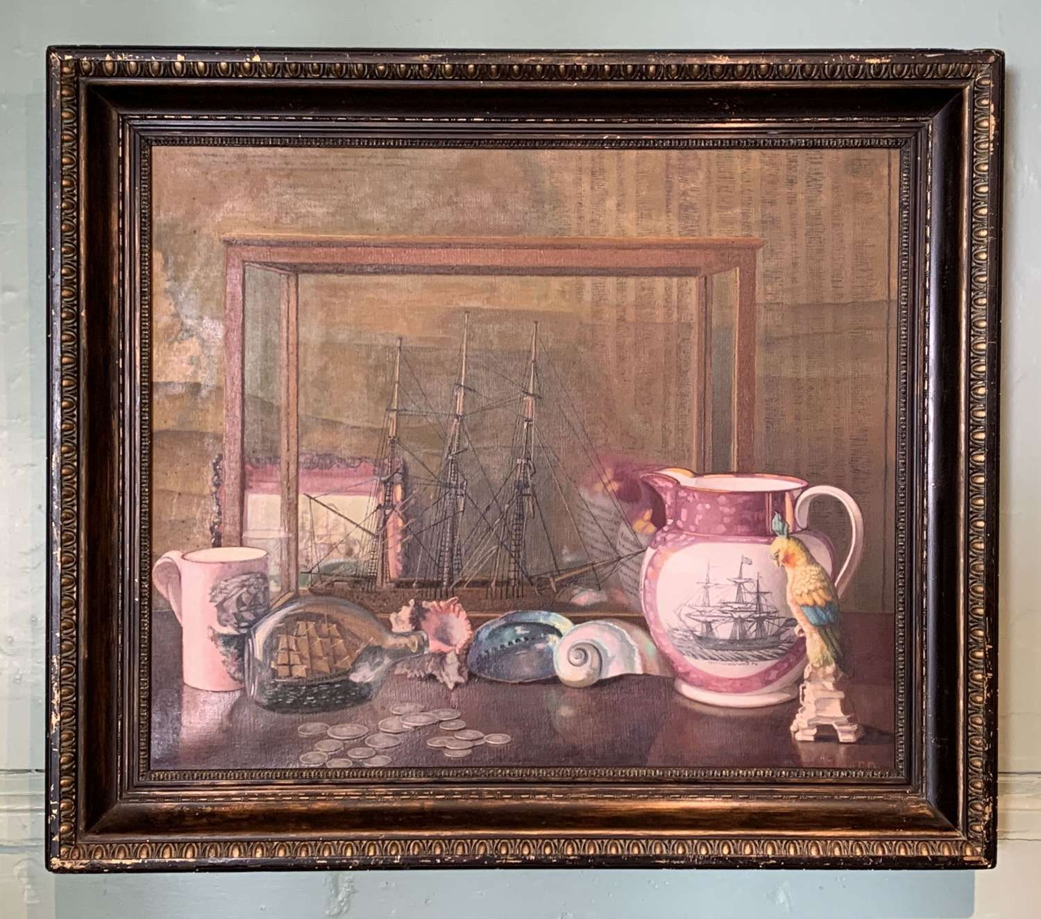 John Ernest Foster 'Pieces of Eight' Oil on Canvas