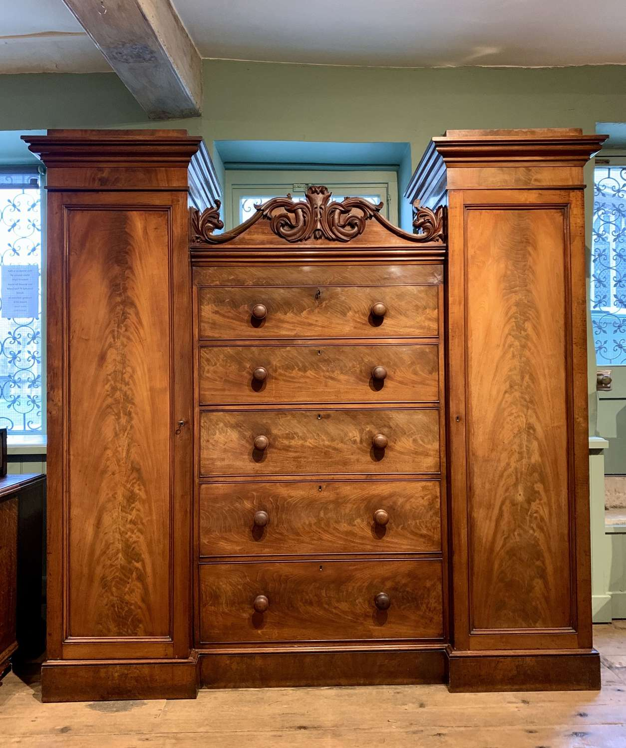 William IV Mahogany Compactum / Wardrobe