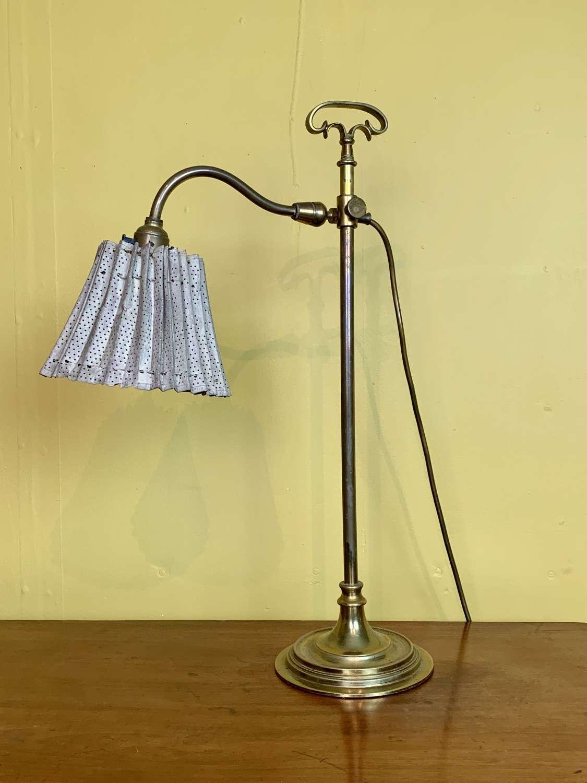 Vintage Brass Adjustable Desk Lamp