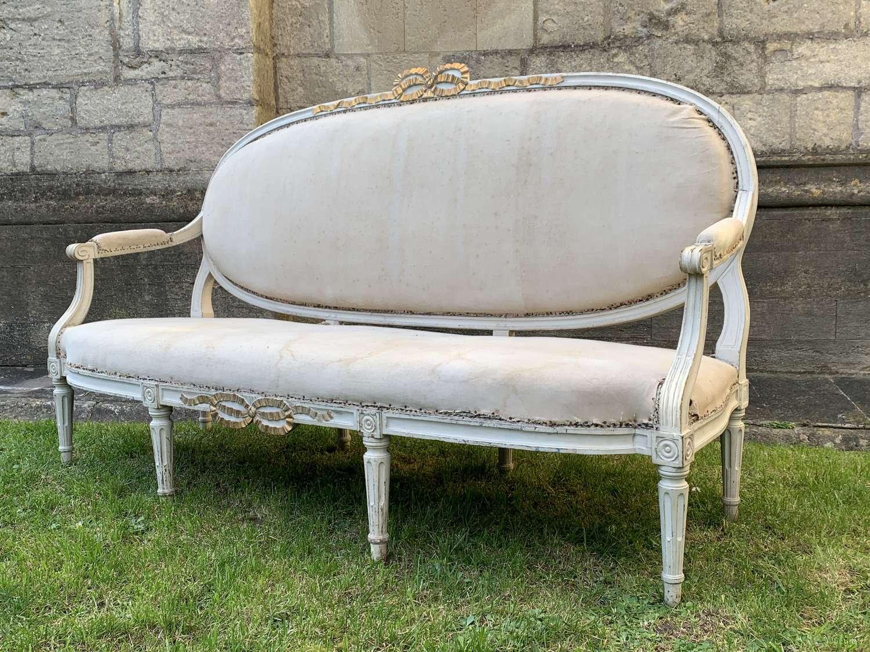 Antique French Louis XVI Revival Canapé / Sofa