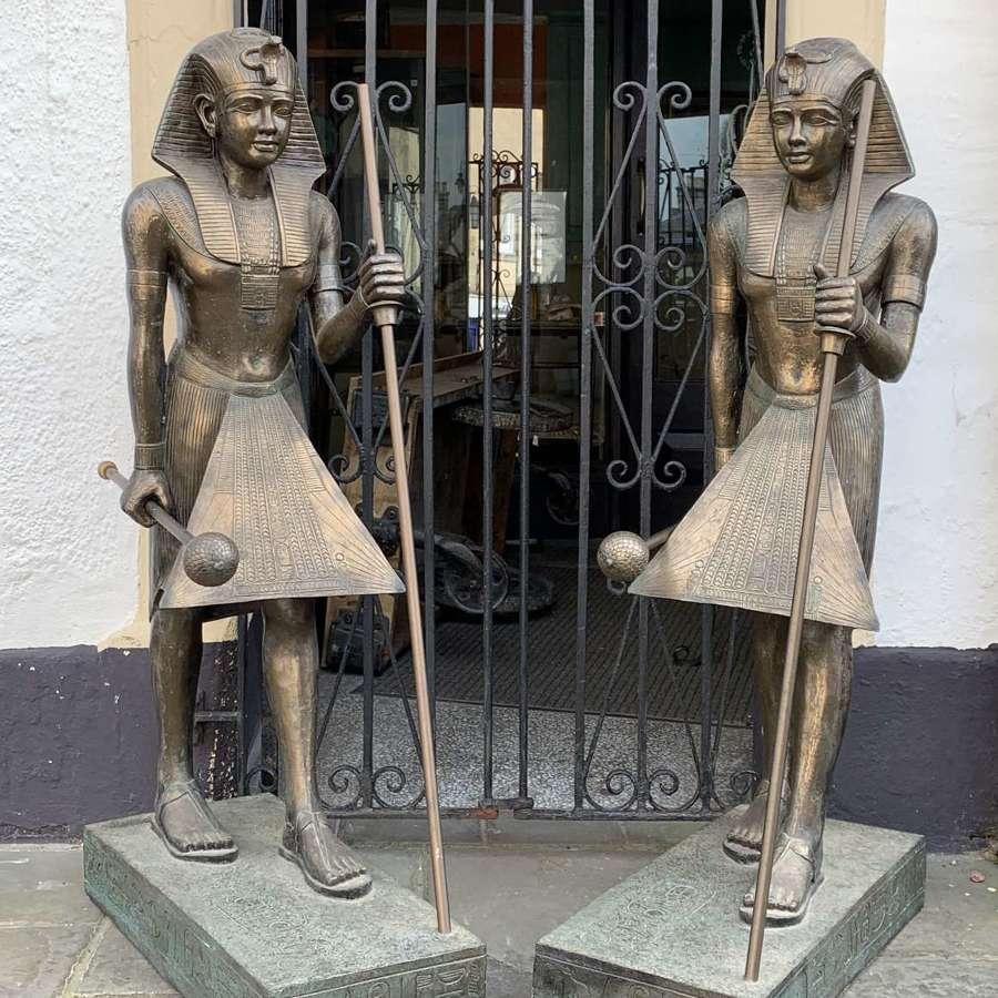 Pair of Replica Models of Tutankhamun's Tomb Guardian Figures