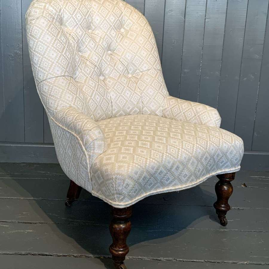 Victorian Button Back Occasional Chair
