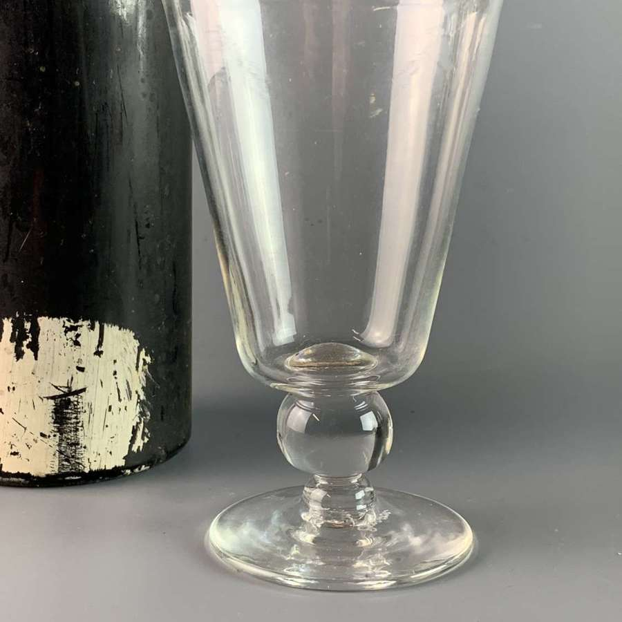 Georgian Glass Rummer with Ball Knop Stem