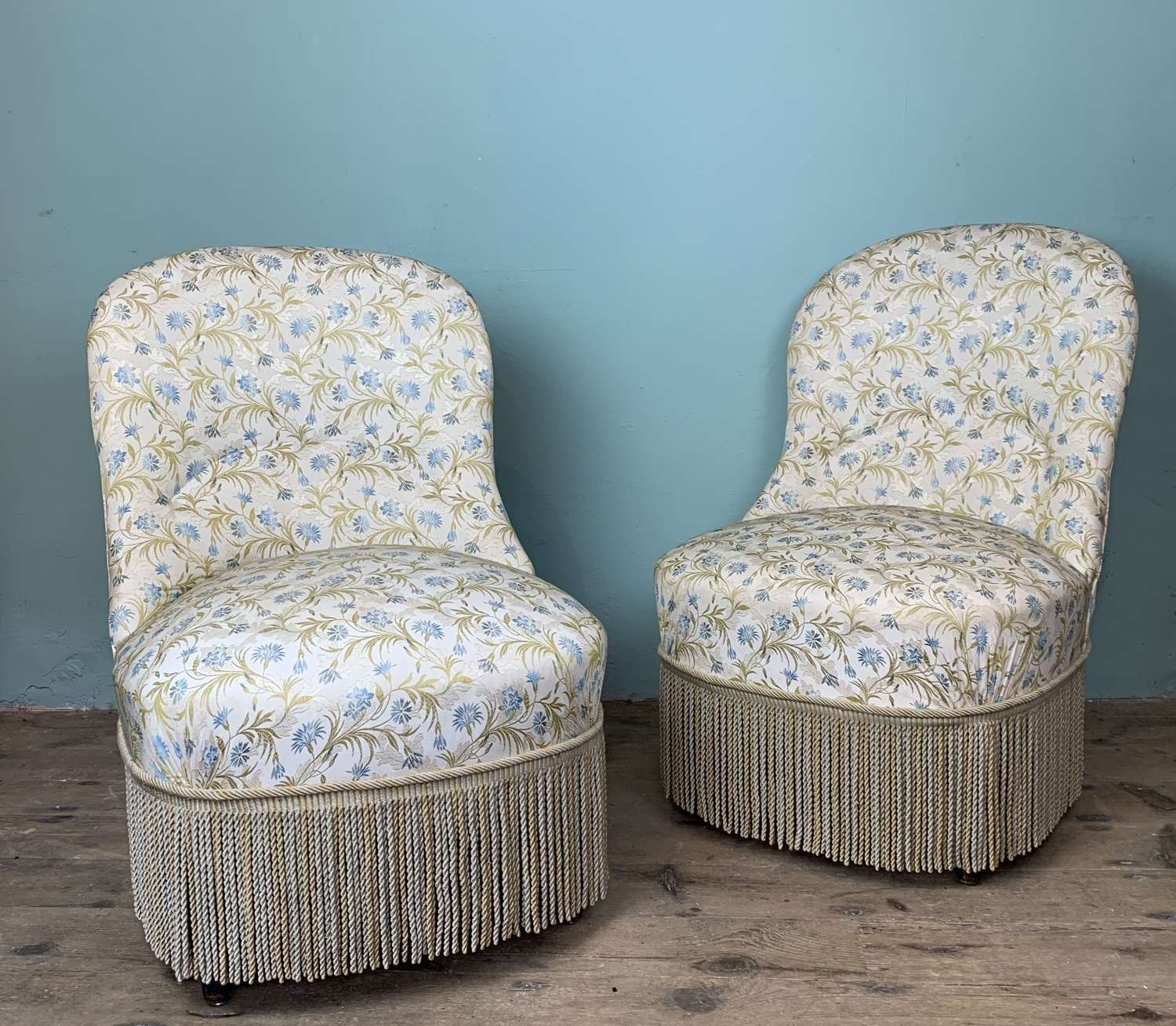 Pair of French Napoleon III Tub Chairs