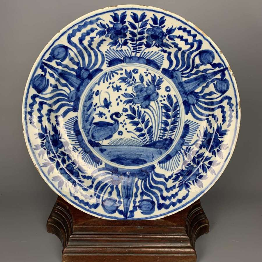 18 Century Delft Blue & White Charger