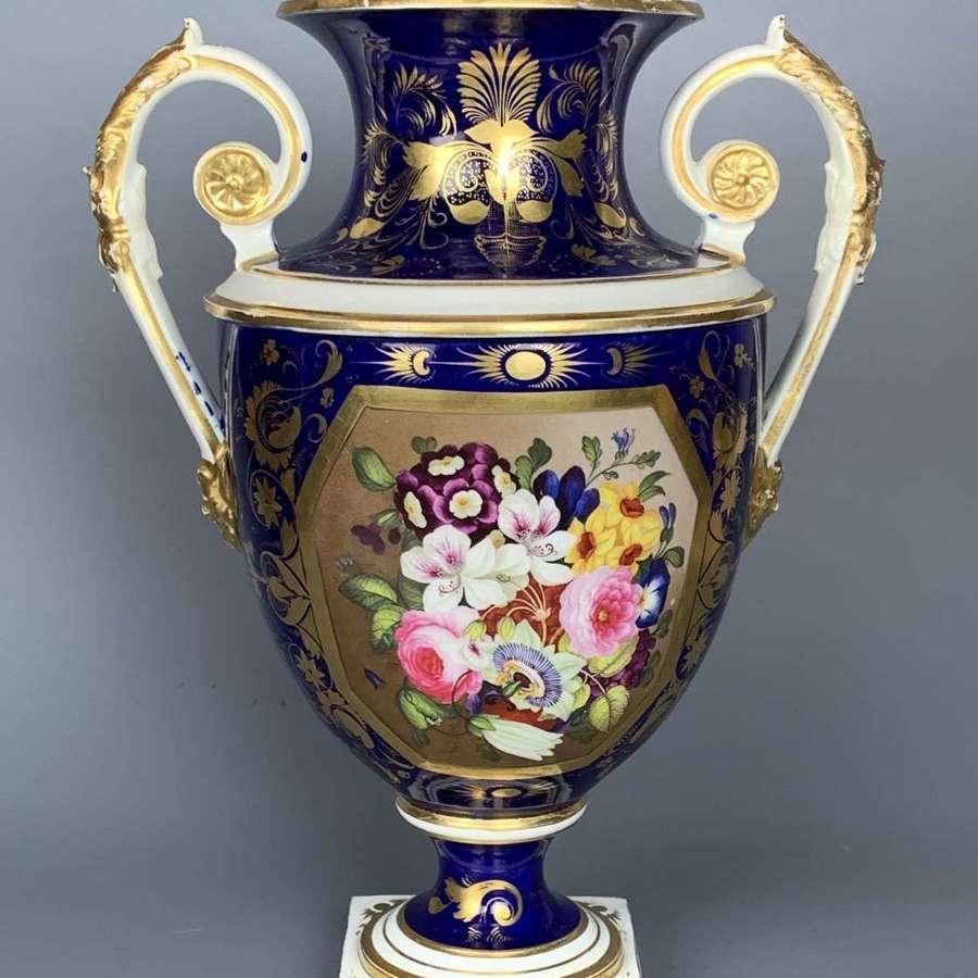 Bloor Derby Twin Handled Porcelain Vase circa 1830