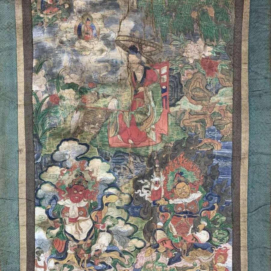 Qing Dynasty Thangka of Dharmatala