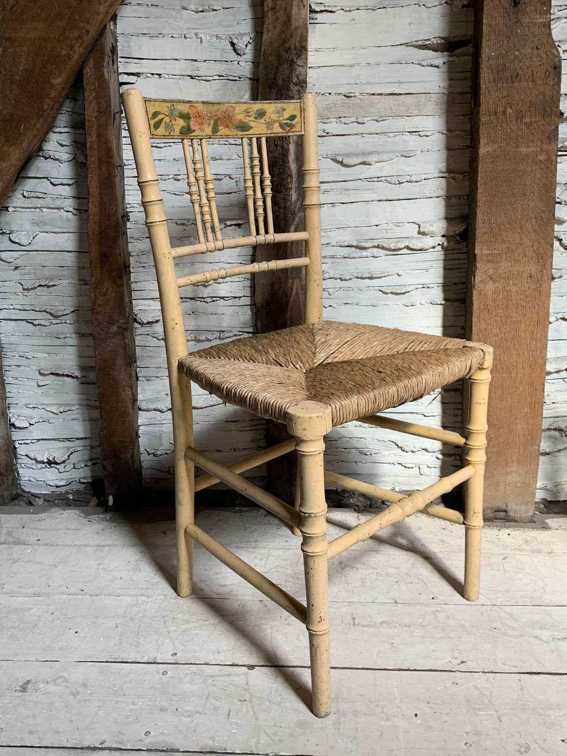 Regency Faux Bamboo Painted Side Chair