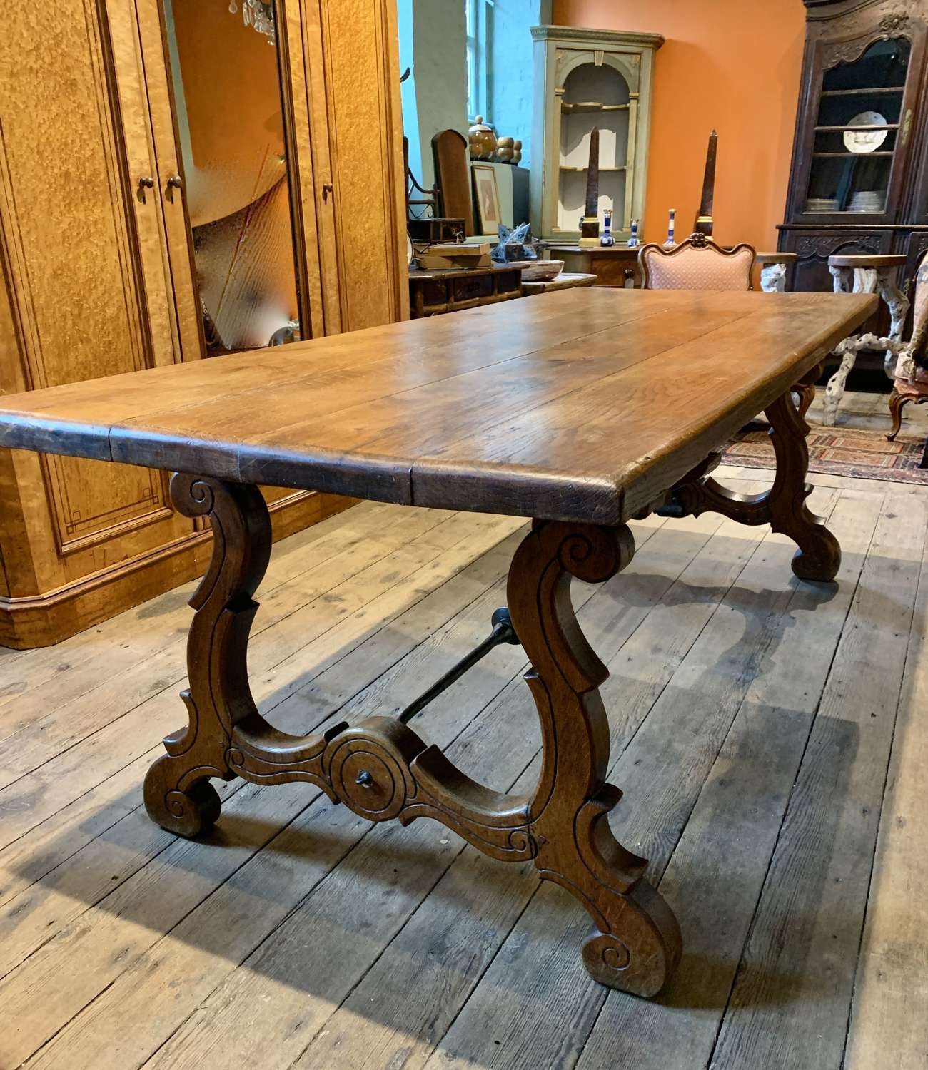 Spanish Oak Refectory Dining Table