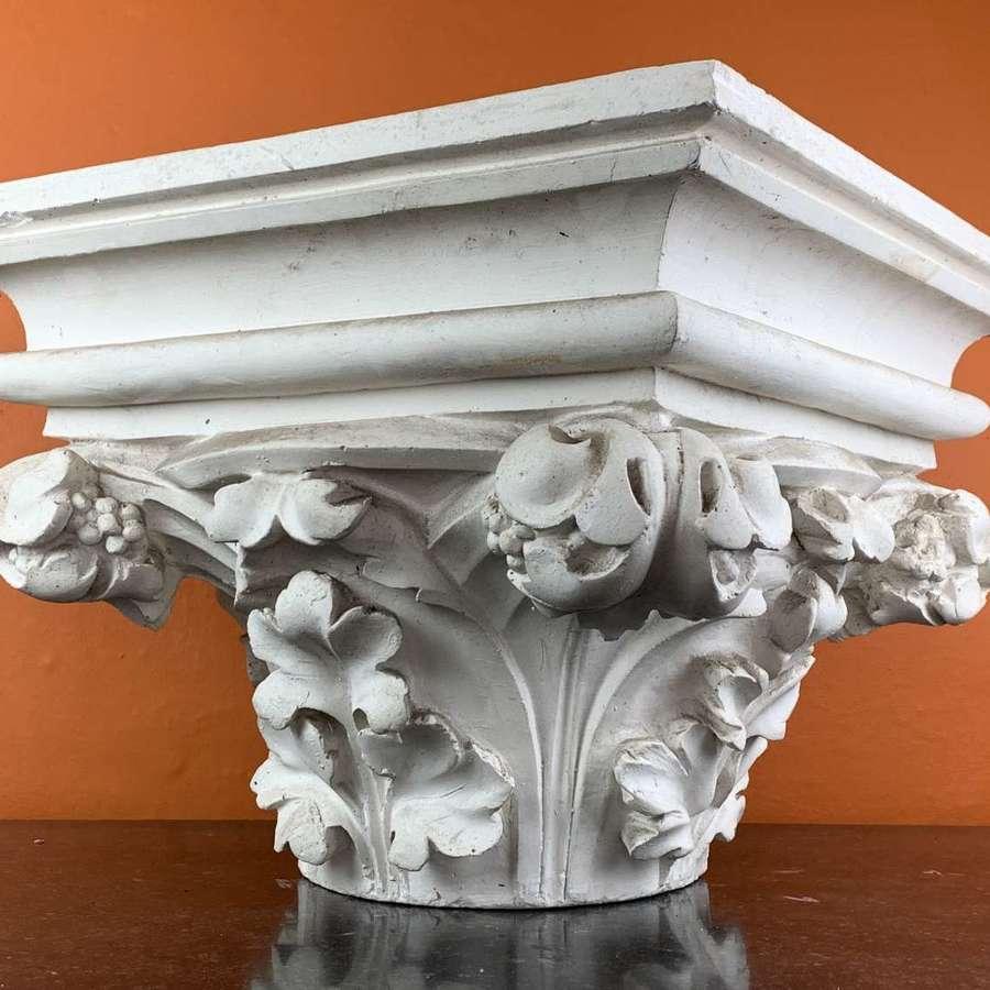 Large Plaster Corinthian Column Capital