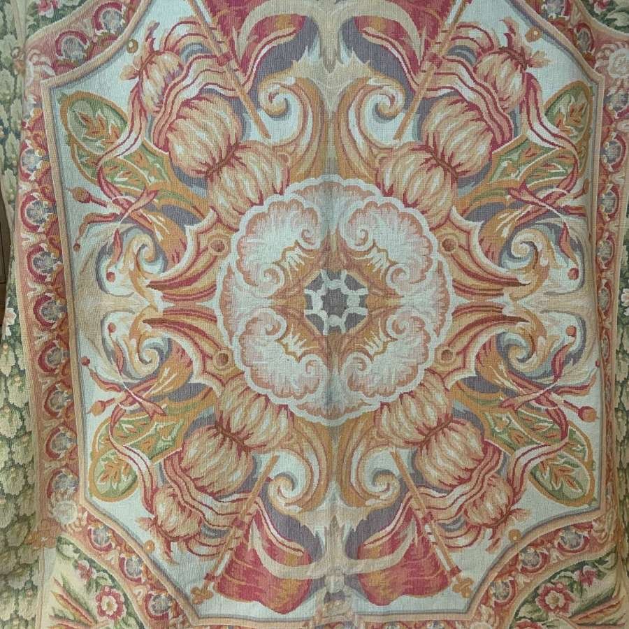 Large Aubusson Style Tapestry Rug / Wall Hanging
