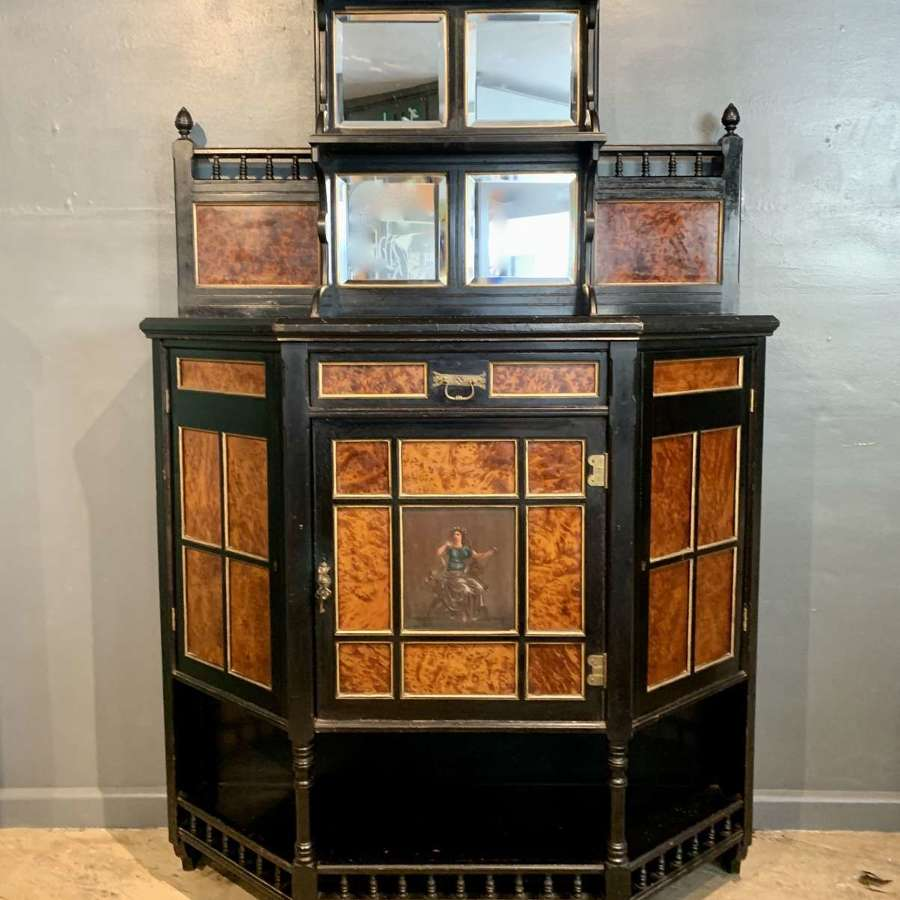 Aesthetic Movement Ebonised & Thuya Wood Cabinet by Hewetson & Thexton