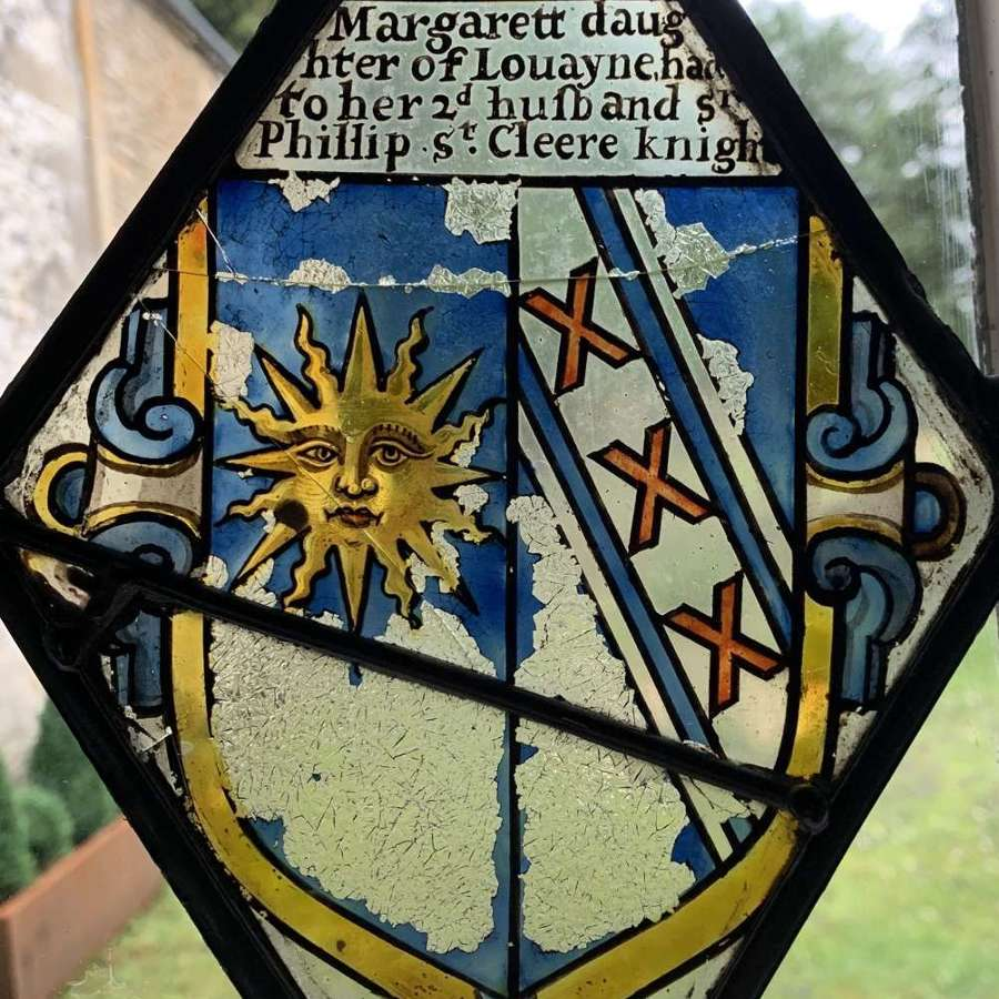 Medieval Stained Glass Fragment