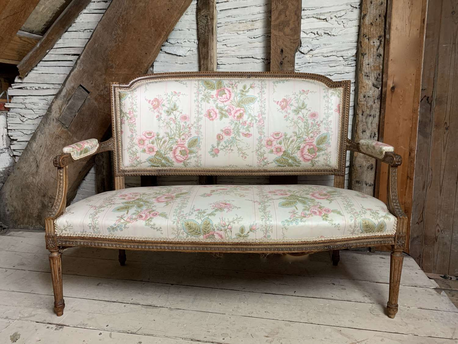 Vintage French Louis XVI Style Sofa for Recovering