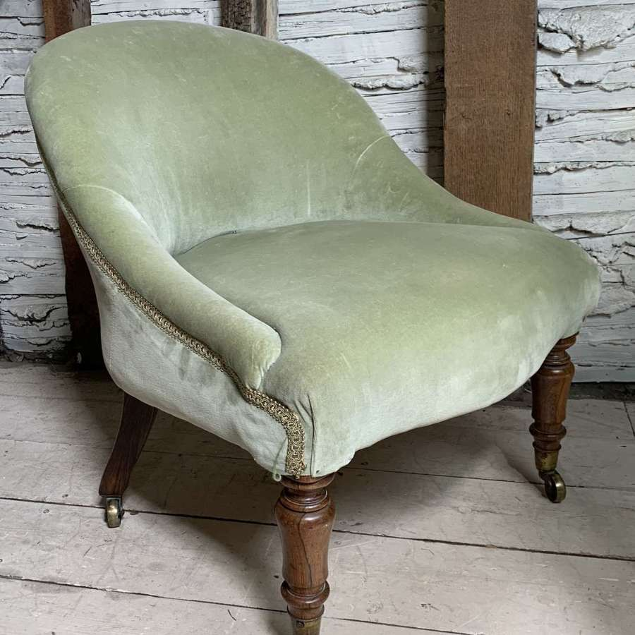 Lovely Quality Victorian Tub Back Occasional Chair