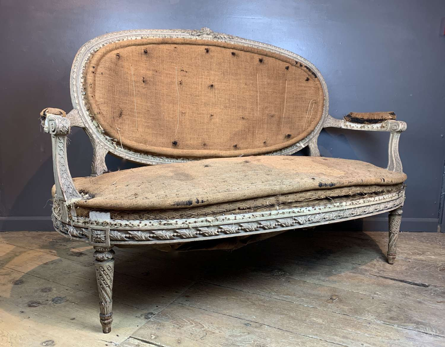 19th Century French Louis XVI Style Canape in Original Paint