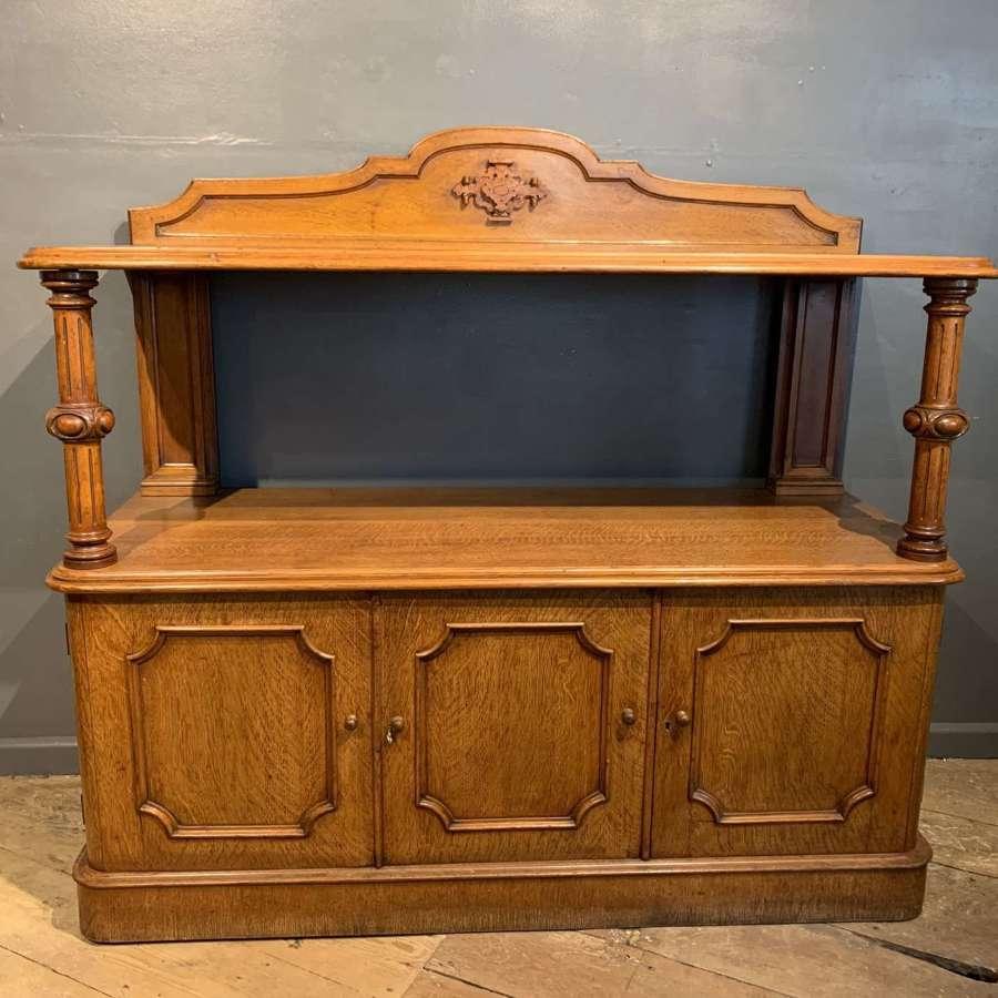 Victorian Golden Oak Open Buffet / Server