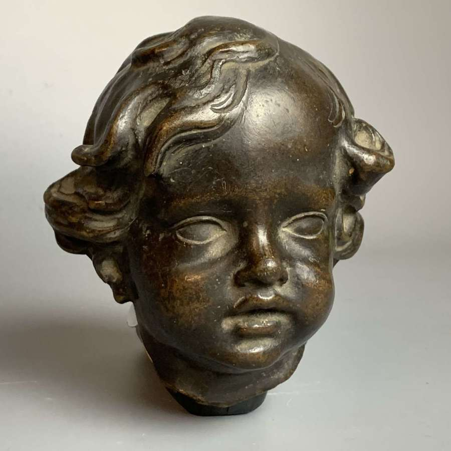 Charming 19th Century Bronze Bust of a Young Child