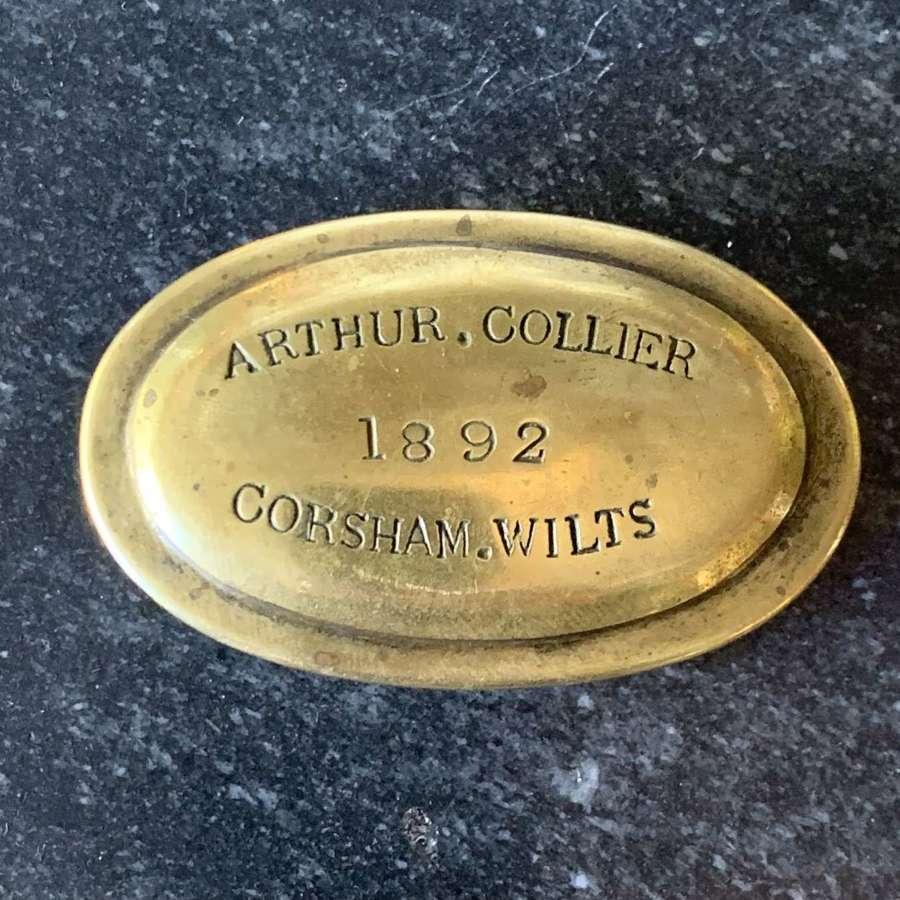Corsham, Wiltshire, Victorian Brass Snuff Box