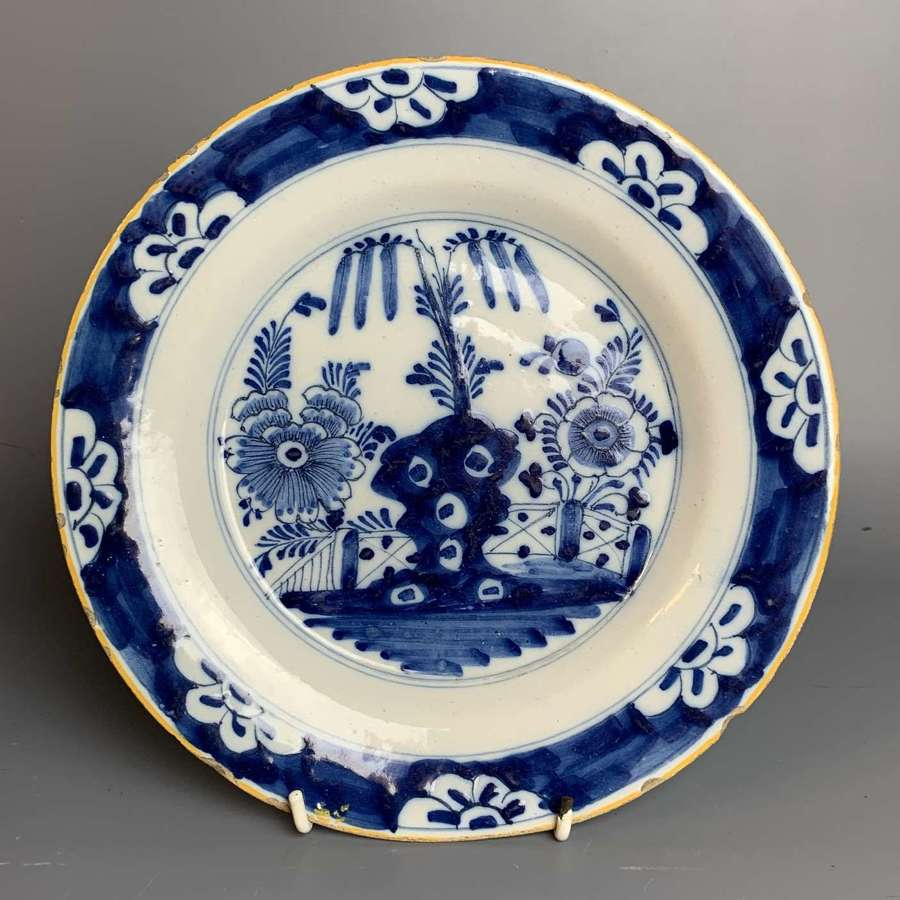 18th Century Delft Blue & White Plate