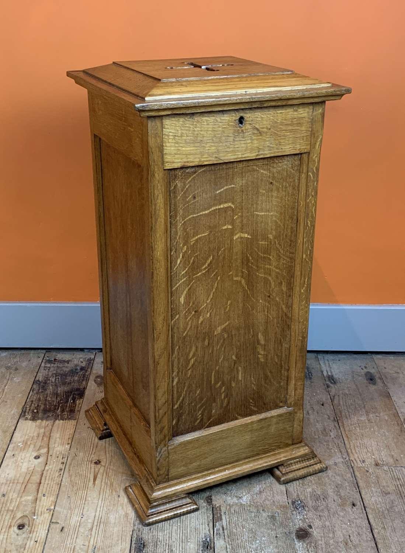 Oak Ecclesiastical Collection Box