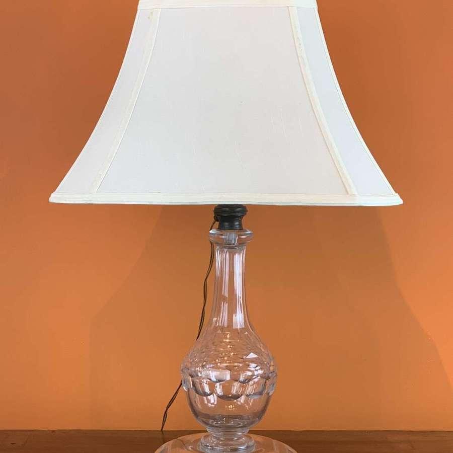 Antique Cut Glass Table Lamp